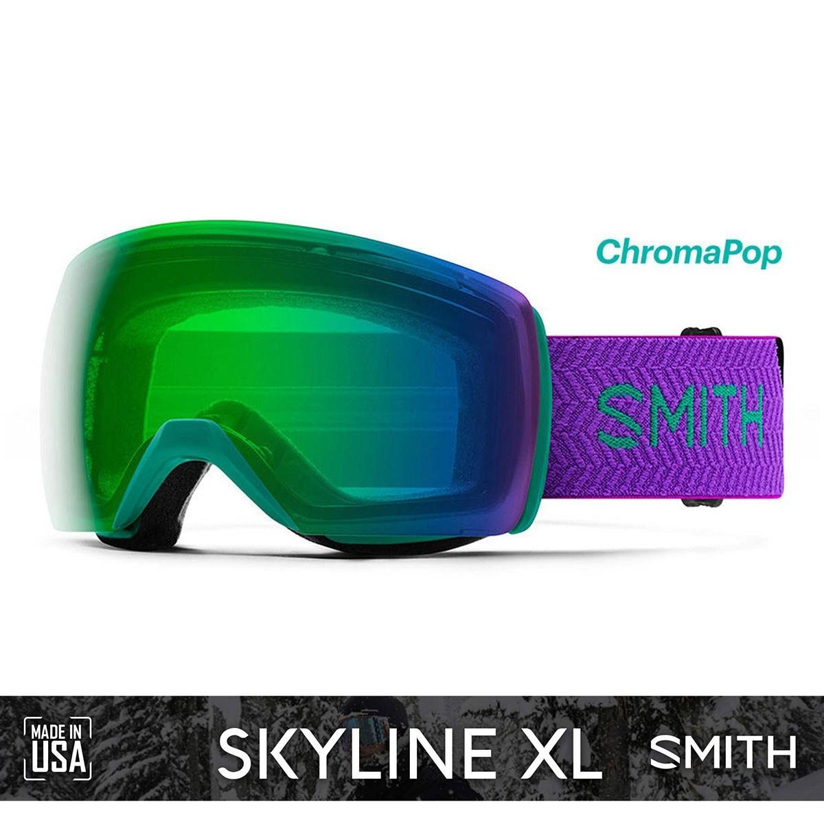SMITH SKYLINE XL Jade Block | S2 CHROMAPOP Everyday Green Mirror - Изображение - AQUAMATRIX