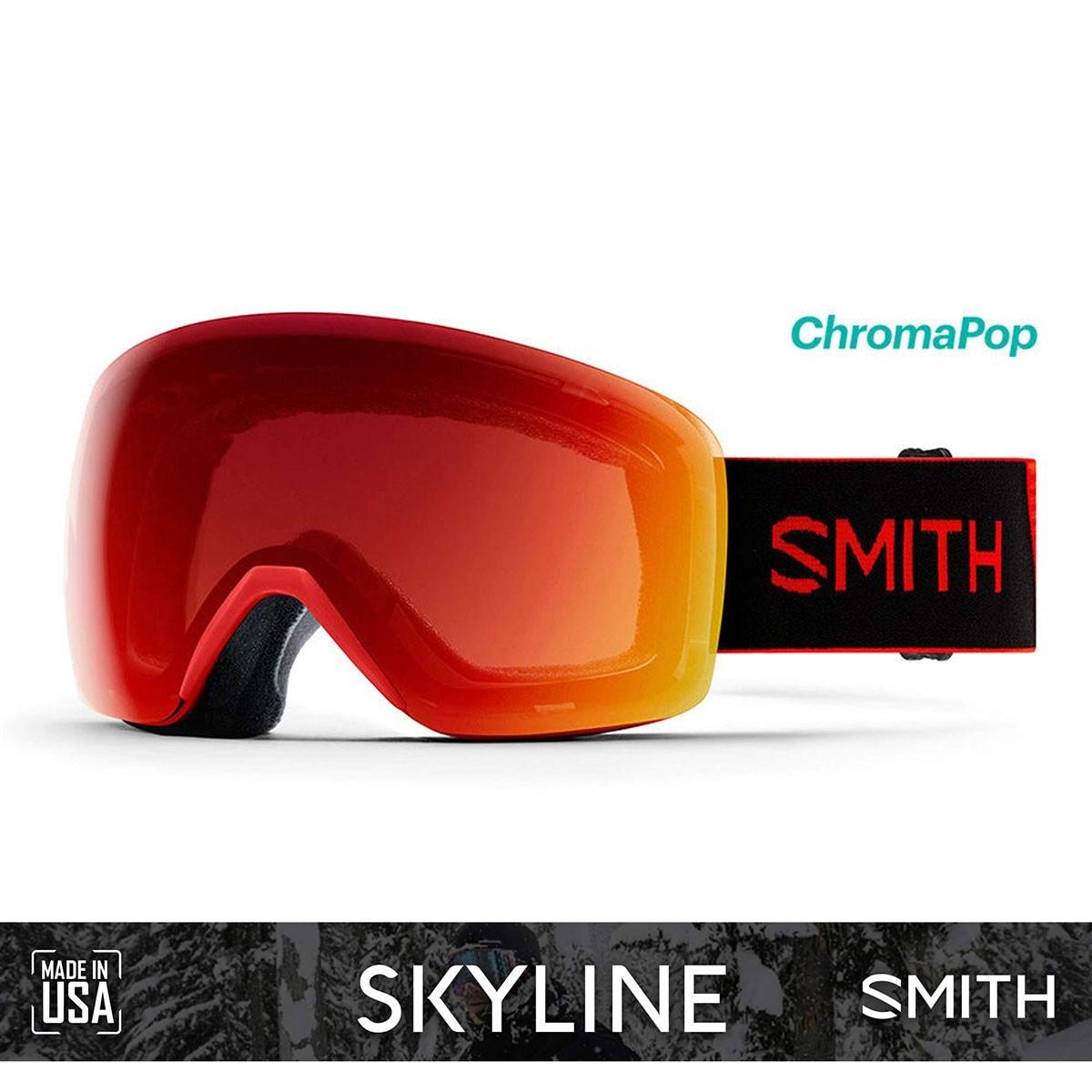 SMITH SKYLINE Rise 1920 | S3-S2 CHROMAPOP Photochromic Red Mirror - Изображение - AQUAMATRIX