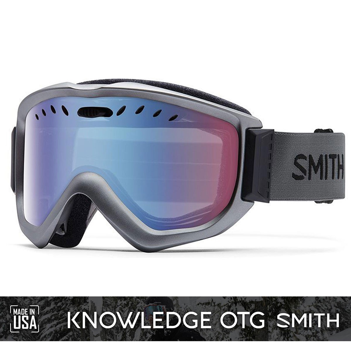 SMITH KNOWLEDGE Graphite | S2 BLUE Sensor Mirror - Изображение - AQUAMATRIX