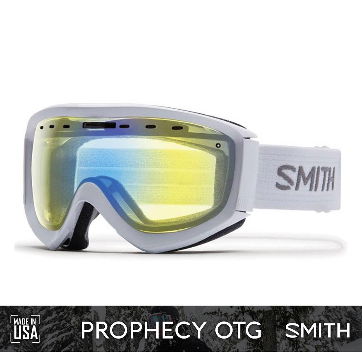 SMITH PROPHECY OTG White | S1 YELLOW Flash - Изображение - AQUAMATRIX