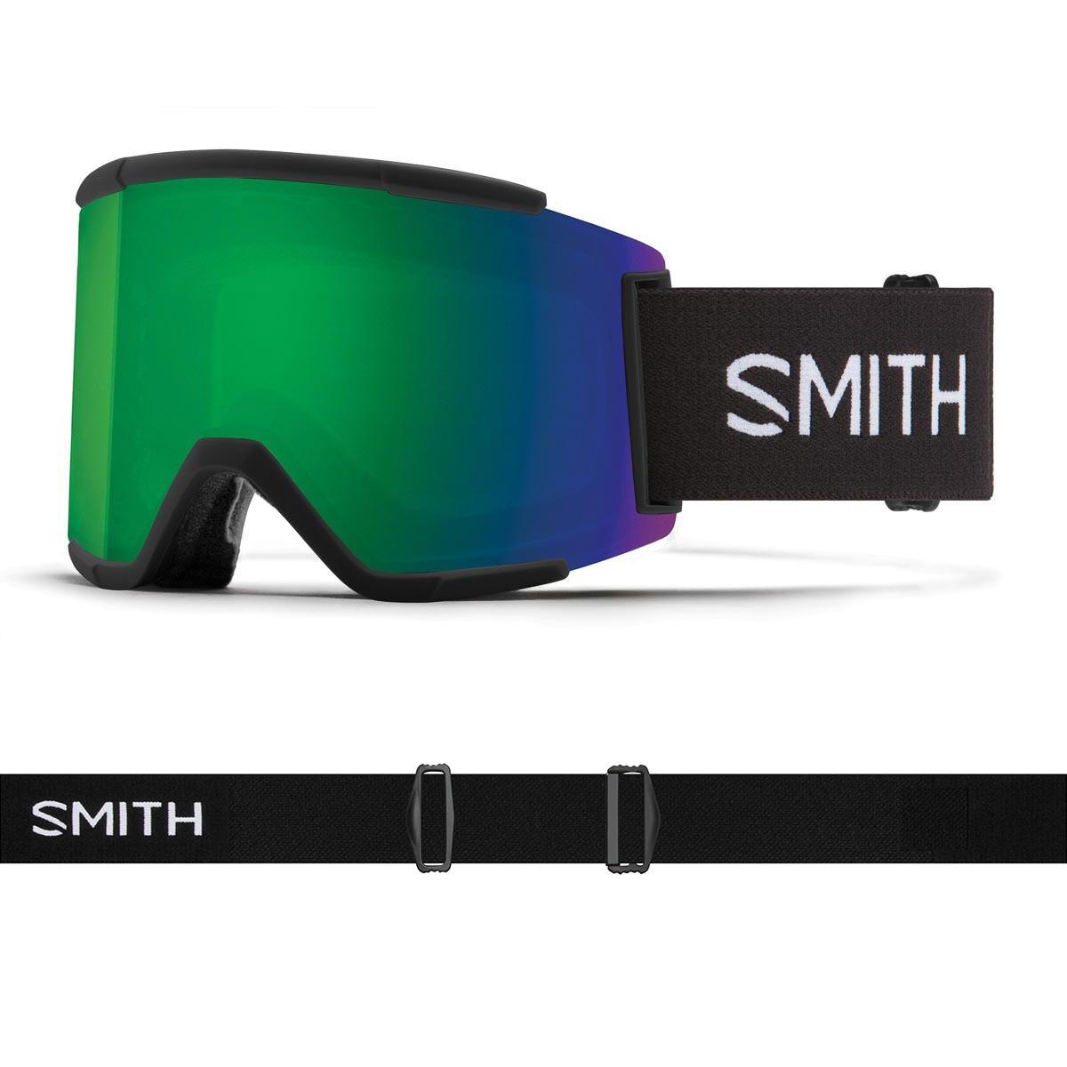 SMITH SQUAD XL black | S2 CHROMAPOP Everyday Green Mirror - Изображение - AQUAMATRIX