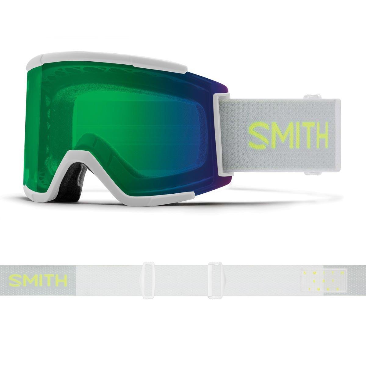 SMITH SQUAD XL sport white | S2 CHROMAPOP Everyday Green Mirror - Изображение - AQUAMATRIX