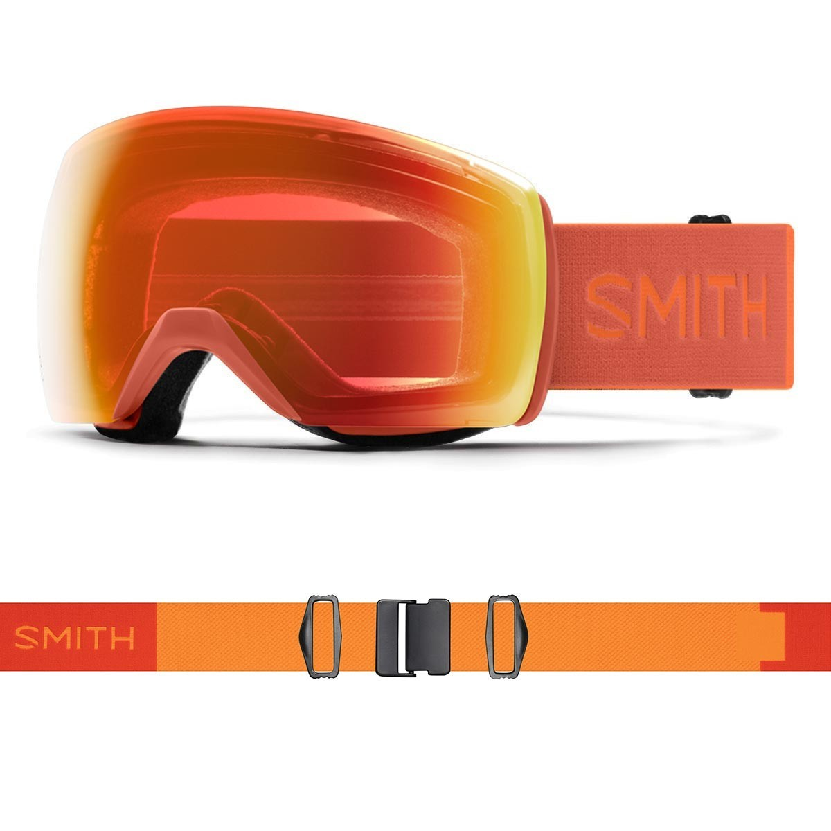 SMITH SKYLINE XL burnt orange | S2 CHROMAPOP Everyday Red Mirror - Изображение - AQUAMATRIX