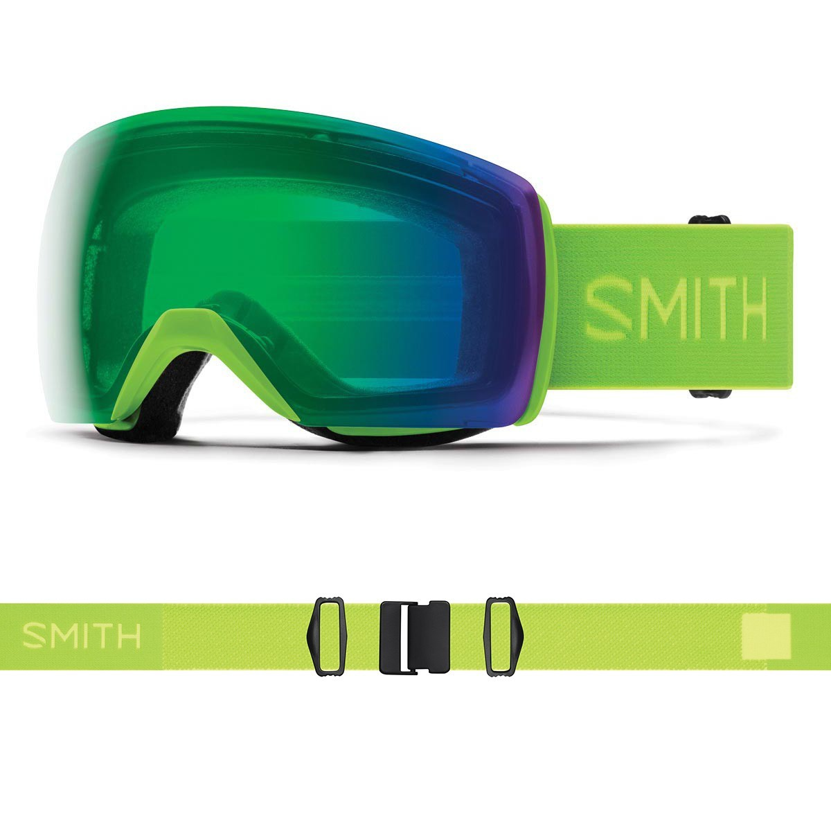 SMITH SKYLINE XL limelight | S2 CHROMAPOP Everyday Green Mirror - Изображение - AQUAMATRIX