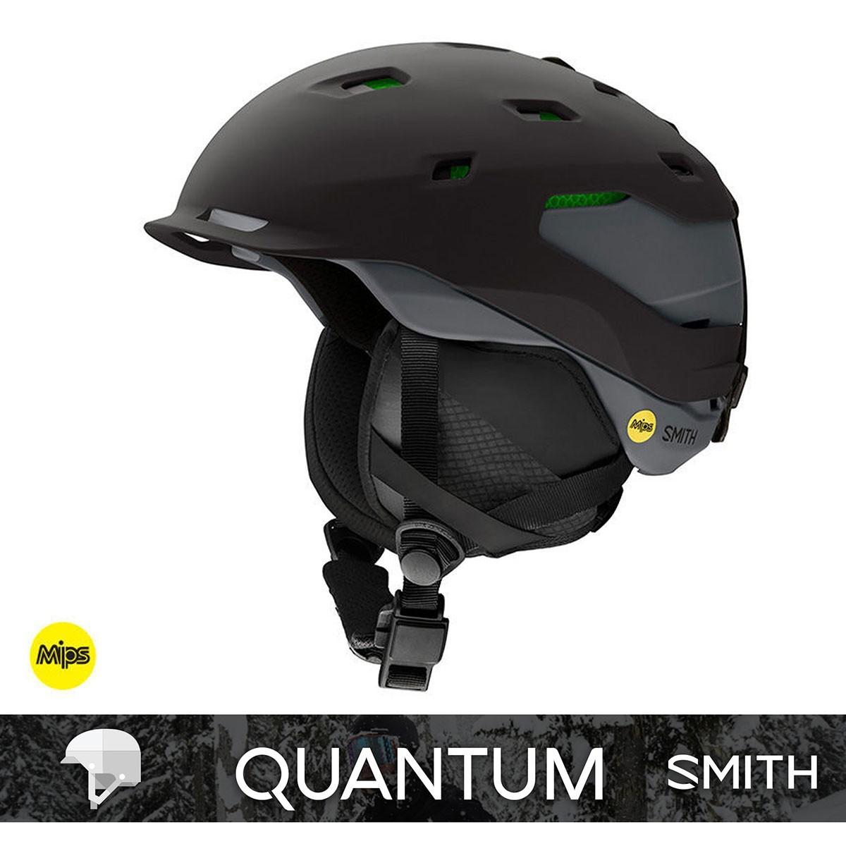 SMITH QUANTUM MIPS matte Black Charcoal - Изображение - AQUAMATRIX