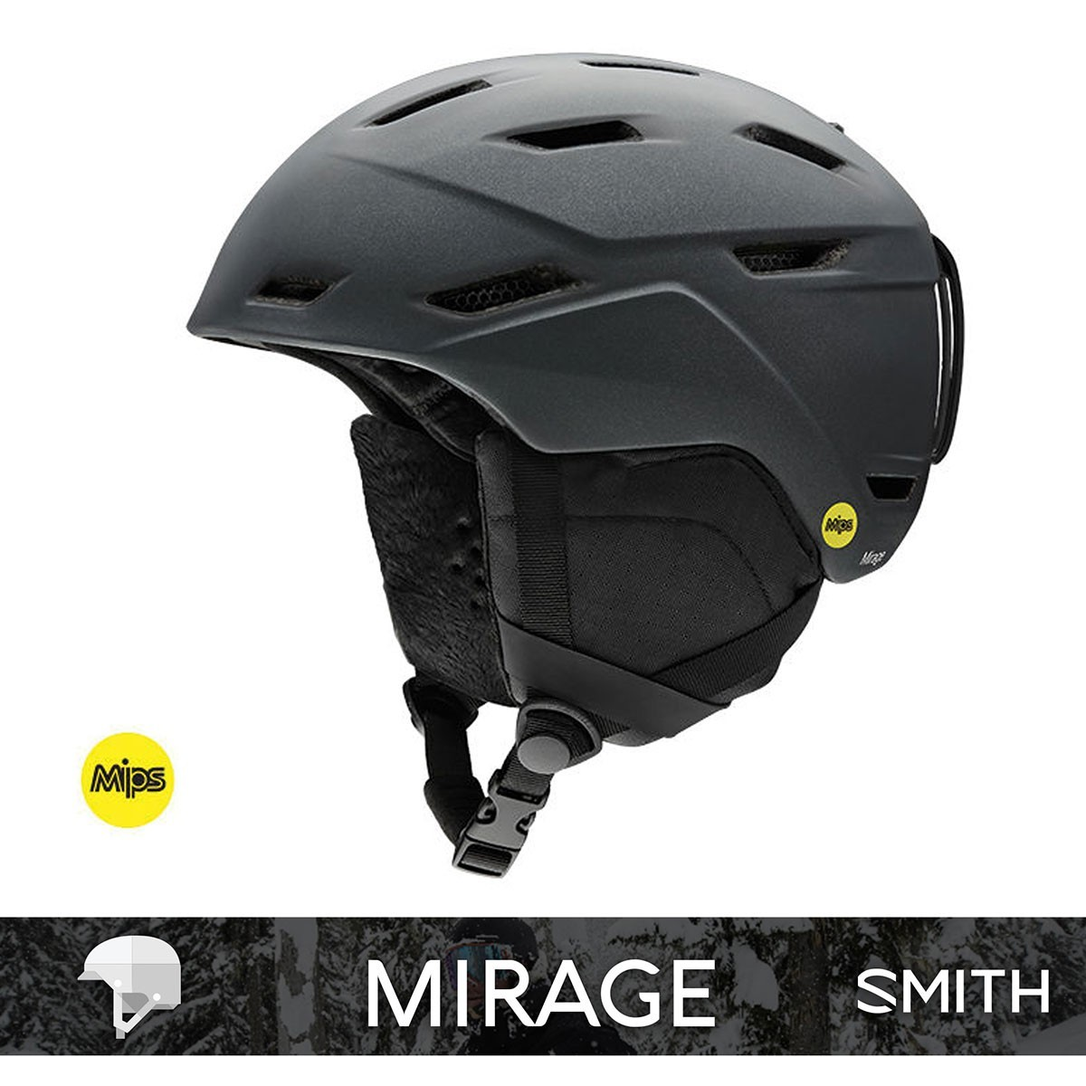 SMITH MIRAGE MIPS matte black pearl - Изображение - AQUAMATRIX