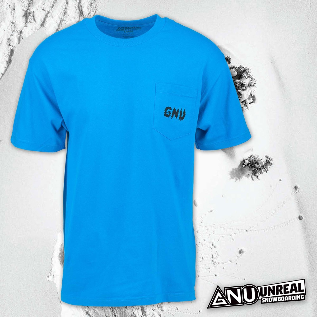 GNU MONEY POCKET TEE TURQUOISE - Изображение - AQUAMATRIX