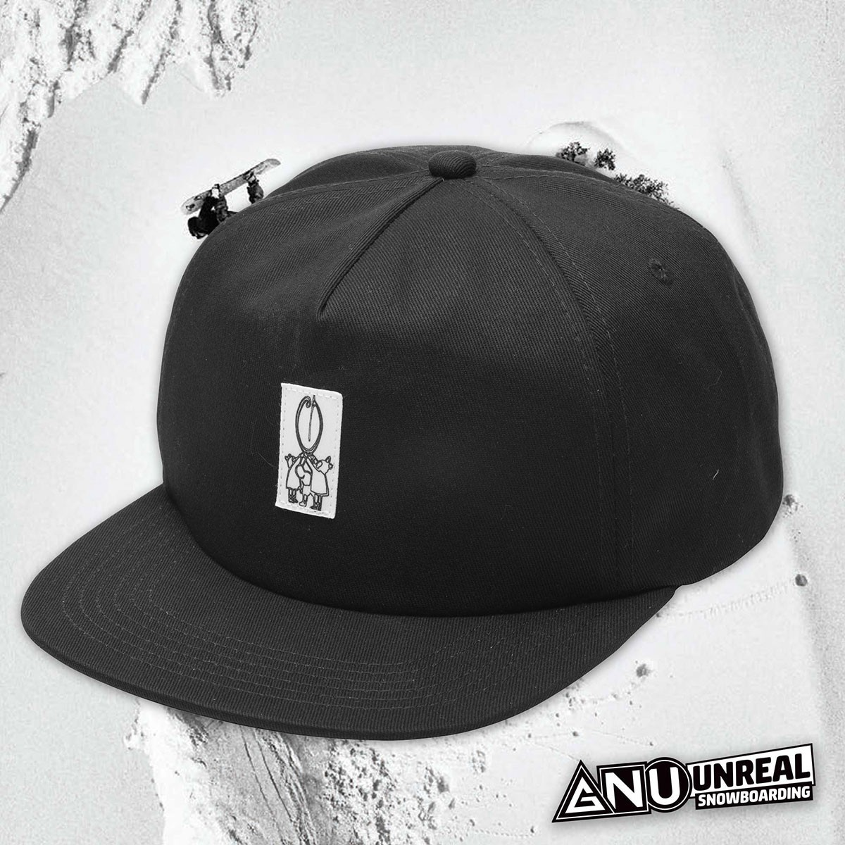 GNU UNREAL G SNAPBACK HAT BLACK - Изображение - AQUAMATRIX