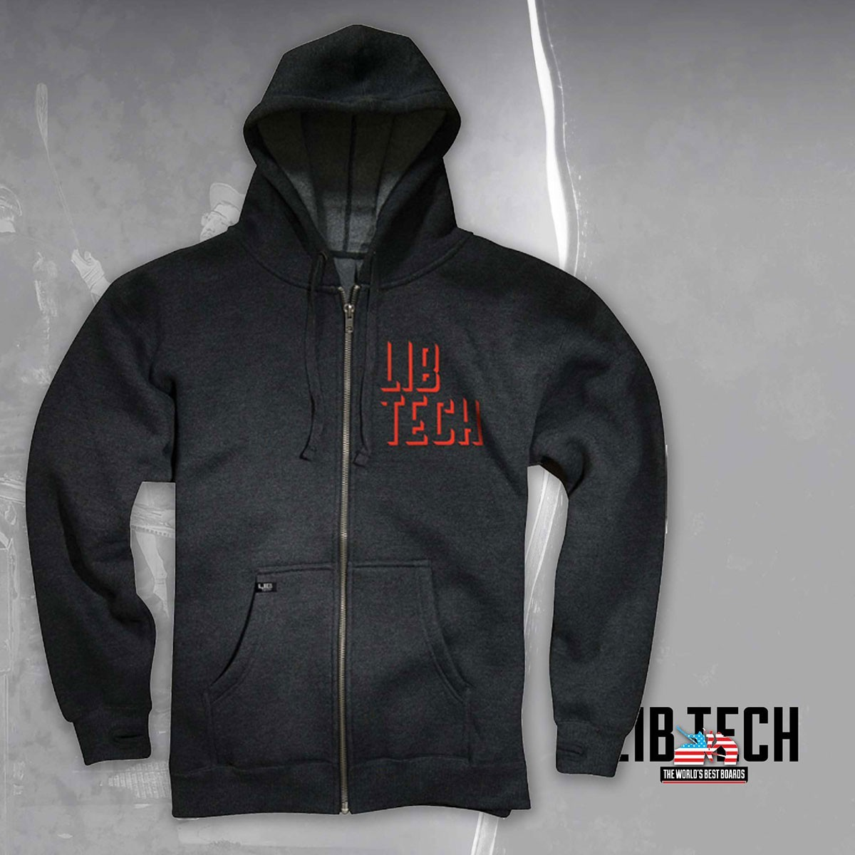 LIB-TECH WOODSHOP zip CHR sz L - Изображение - AQUAMATRIX