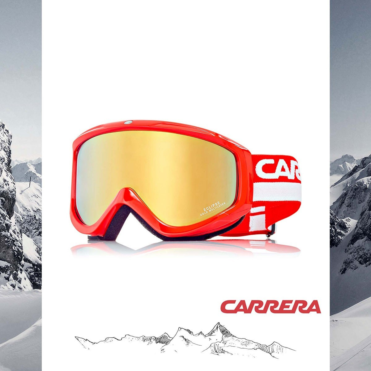 МАСКА CARRERA ECLIPSE/US WARM ORNG SH - Изображение - AQUAMATRIX